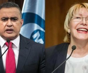 Tarek Saab, fiscal de Venezuela, y Luisa Ortega, exfiscal.