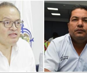 A la izquierda, el procurador general Fernando Carillo. A la derecha, el alcalde de Salamina, José Díaz Marchena.
