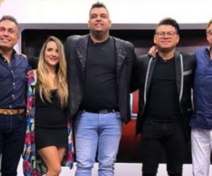 De izquierda a derecha: Ismael Barrios, Angelica Martínez, Rolando Ochoa, Arlintong Cordero y Jairo Martínez, jurados del concurso.