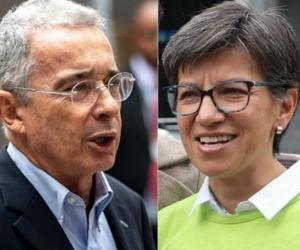Alvaro Uribe y Claudia López.