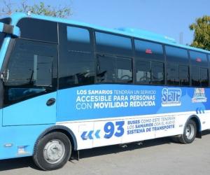 Modelo de bus que circulará en la capital del Magdalena.