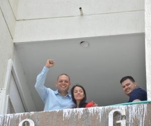 Edgardo Pérez Díaz, alcalde de Ciénaga, antes de ingresar a la audiencia en el edificio Galaxia.