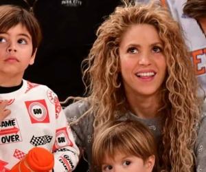 Shakira y su familia.
