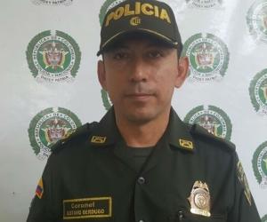 comandante de la policía de santa marta, coronel Gustavo Berdugo.
