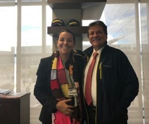 La alcaldesa de Fundación visitó la Unidad Nacional de Gestión del Riesgo en Bogotá.