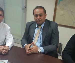 Aspecto de la reunión desarrollada en el despacho del Minminas en Bogotá.