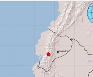 Movimiento telúrico en Ecuador.