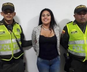 July Alejandra Cristancho Pinto., mujer capturada.