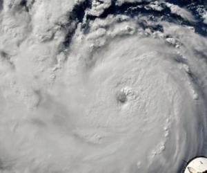 Así es visto el huracán Florence aproximándose a Carolina del Norte y Carolina del Sur.
