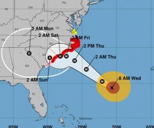 Avance del huracán.