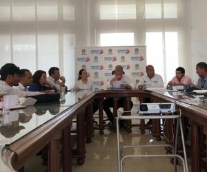 Aspecto de la reunión desarollada en las instalaciones de la Gobernación del Magdalena.
