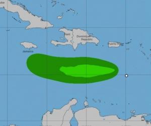Así se ve el viento de 'Isaac' en el Caribe.