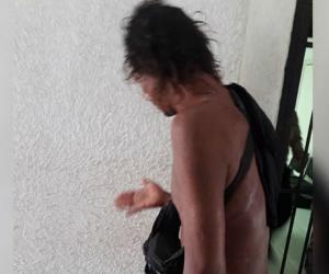 Hombre agredido por ciudadanos venezolanos.