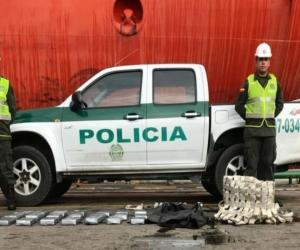 Policía Metropolitana luego de la incautación.
