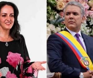 María Fernanda Cabal e Iván Duque.