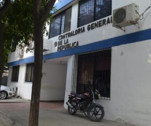 Fachada de la gerencia departamental de la Contraloría General de la República en Santa Marta.