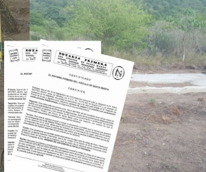 El terreno invadido es de 14 hectáreas, ubicado en la vía alterna al puerto.