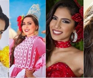 Estas son varias de las candidatas que participarán en el Imperialato Nacional de la Cumbia.