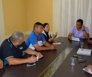 Aspecto de la reunión desarrollada en las instalaciones de la Alcaldía de Ciémaga.