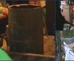 Los cuerpos fueron hallados en canecas.