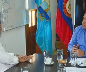 Viceministro de Comercio, Industria y Turismo y el alcalde Martínez.