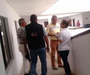 El CTI adelanta una diligencia en la Alcaldía de Puerto Colombia.