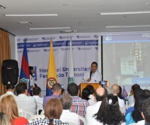 La audiencia de rendición de cuentas fue liderada por el gerente Tomás Díaz Granados.