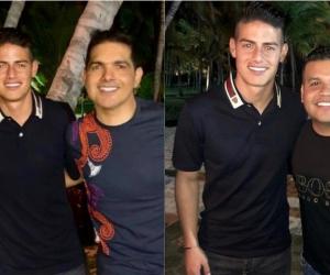 Tata Becerra, James Rodríguez, Peter Manjarrés y Juank Vega