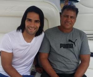 Falcao García con su padre Radamel García King