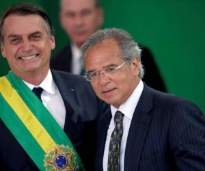 Jair Bolsonaro y Paulo Guedes.