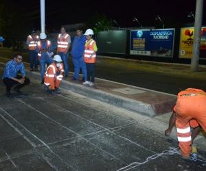 Los trabajos iniciaron en la carrera 22 con avenida de Los Estudiantes.