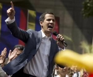 El jefe de la Asamblea Nacional de Venezuela (AN, Parlamento), Juan Guaidó.