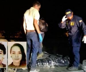 Diego Bigger, de 31 años, y Jossen Anne Millius, de 22, turistas ahogados.