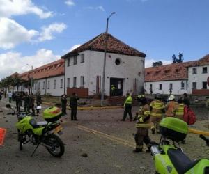 Explosión de carro bomba en Bogotá