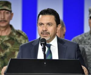 El alto comisionado de paz, Miguel Ceballos.