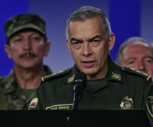 General Óscar Atehortúa, director nacional de la Policía.