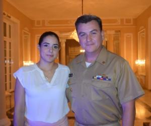 Capitán de Fragata, Jorge Sánchez y Carolina Jaramillo