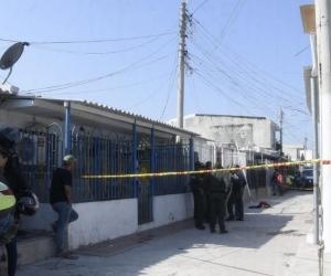 Lugar donde ocurrieron los hechos en el barrio Universal de Barranquilla.