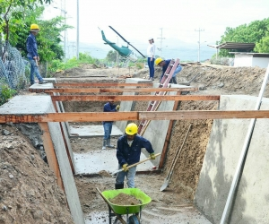Obras del colector pluvial Troncal del Caribe