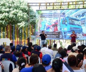 El alcalde Rafael Martínez habló de seguridad en una rendición de cuentas en Bonda.