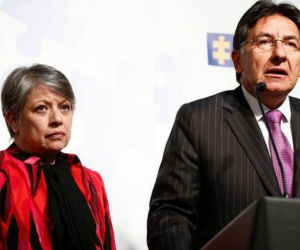 El Fiscal Néstor Humberto Martínez y la Vicefiscal María Paulina Riveros.