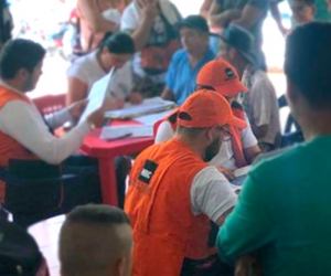 El equipo de NRC apoya con el registro de personas desplazadas desde el 10 de enero 2019 en San Calixto, al Nororiente de Colombia.
