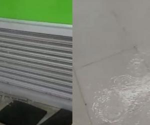 Afectaciones en el patinódromo.