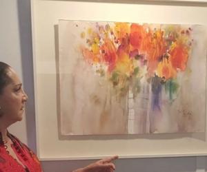 Exposición de arte en Francia.