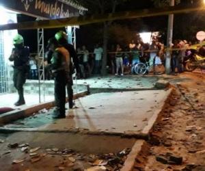 La Policía hizo presencia en el estadero donde fue asesinado un hombre en Garagoa.