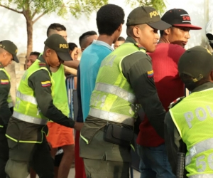 Operativos de las autoridades en Santa Marta.