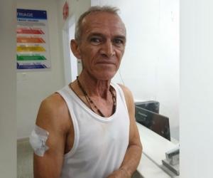 Luis Parra, reportero gráfico herido.