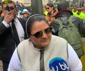 Adriana, monja que viajó desde Medellín a apoyar a Uribe en indagatoria