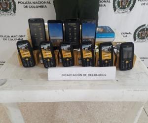 Incautación de celulares