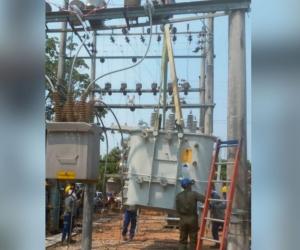 Este jueves, Electricaribe instalará nuevo transformador de potencia en Guamal.
